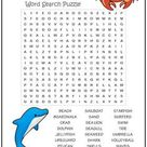 At the Ocean Word Search Puzzle | Print it Free