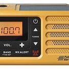 Sangean MMR-88 AM/FM/Weather+Alert Emergency Radio. Solar/Hand Crank/USB/Flashlight, Siren, Smartphone Charger - yellow