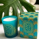 DIPTYQUE Beverly Hills City Candle Limited Edition New sealed in box 6.5oz / 190g  A refreshing mix of mint, lemon, and white flowers, the Beverly Hills candle is packaged in a teal glass with yellow palm fronds that pay homage to the iconicMartinique wallpaperat theBeverly Hills Hotel. diptyque Other