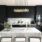 @herhappyhabits kitchen photography classy modern beautiful elegant marble kitchen decor black