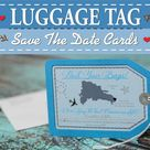 Luggage tag save the date for a destination wedding or | Etsy