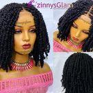 Kinky twist braided hair wig