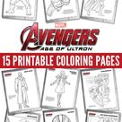 Free Kids Printables: Marvel's The Avengers: Age of Ultron Coloring Pages - Comic Con Family