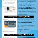 How To Search Old Tweets Infographic