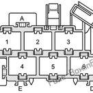 Fuse Box Diagram Audi A2 8Z; 1999 2005