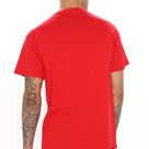 Mens Saucy Short Sleeve Tee Shirt in Red Size 2XL by Fashion Nova