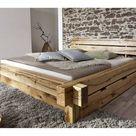 Livetastic BALKENBETT , Eiche, Holz, Wildeiche, massiv, 180 cm