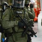 You're not bulletproof... — Training  German Federal Police in the city of...