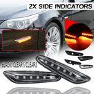 Generico 2x luces indicadoras de marcador lateral LED para BMW E46 E6