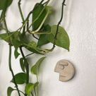 Handmade Face Magnet, Made of Natural Grey Clay, Refrigerator Magnet, Unique Handmade Kitchen Accessory, Clay Pottery, Gift Idea