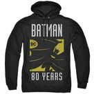 Batman DC Comics 80th Anniversary Silhouette Hoodie   Cotton Poly Blend / S / Black