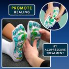 English Acupressure Reflexology Socks With Massage Stick Set