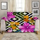 Sofa Cover - Hibiscus Flower Garden by Coastal Passion, Futon Cover 76