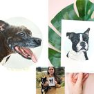 Hand-Painted Pet Portrait Colourful Pet Painting Gift Memorial Custom gift, Portrait From Photo, Realistic Acrylic Pet Lover dog mom