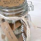 Persönliches Geschenk zur Taufe: Pusteblumen im Glas - Lavendelblog