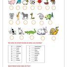 Tiere und Farben