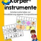 Körperinstrumente - Schülermaterial zur Visualisierung eigener Kompositionen – Unterrichtsmaterial im Fach Musik