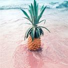 Canvas Painting Pink Seascape Pineapple Nordic Poster Print Wall Picture Canvas Painting Scenery Life Living Room Home Decor - 13x18cm no frame / D