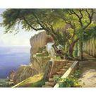 Giclee Print: Pergola in Amalfi by Carl Frederic Aagaard : 17x24in