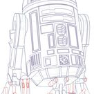How to Draw R2D2 from Star Wars Step by Step Tutorial