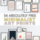34 Totally Free Minimalist Art Prints | Fox + Hazel