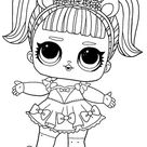 LOL surprise Sparkle series coloring page - Unicorn