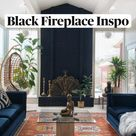 Black Fireplace Inspo