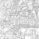 Sweet House - Favoreads Coloring Club
