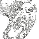 Realistic Mermaid Art Design