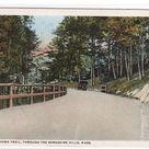 Mohawk Trail Highway Car Berkshires MA 1916 postcard  | eBay