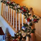 37 Beautiful Christmas Staircase Décor Ideas To Try - DigsDigs