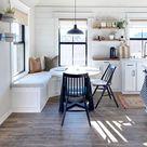 17+ Best Kitchen Corner Bench Seating with Storage Ideas