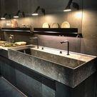 Large kitchen sink - EuroCucina 2018 at Salone del mobile - Home Decorating Trends - Homedit