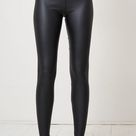 Black Faux Leather Leggings   love frontrow   SilkFred