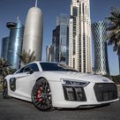 """𝐀𝐮𝐝𝐢 𝐑𝟖 on Instagram """"📷 auditography  The R8 V10 RWS among Doha's skyscrapers. Are you a fan  Car  2018 Audi R8 V10 RWS Coupè 1 of 999 540hp/540Nm, V10 NA…"""""""