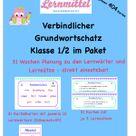 Verbindlicher Grundwortschatz - FIX-und-FERTIG-Paket - 31 Wochen stressfrei Lernwörter und Lernsätze unterrichten Klasse 1/2 #Monstersale – Unterrichtsmaterial im Fach Deutsch