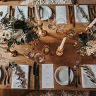 Moderne Almhochzeit in Marsala und Grün | Hochzeitsblog The Little Wedding Corner