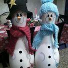Bowling Pin Snowmen