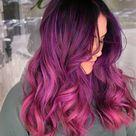 Pink purple hair haircolor balayage vibrant hair
