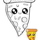 Kawaii Pizza Coloring Pages   2 Free Kawaii Food Coloring Sheets 2020