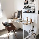 Coin bureau dans le salon : 15 idées tendance d'aménagement