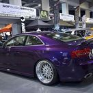 Audi A5 Coupe Modified Custom Stance Show Car Purple
