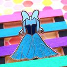 Ariel Paper Doll Dress Hard Enamel Pin - B Grade