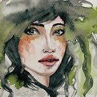 Watercolor Face