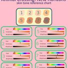 ACNH Skin Tone Reference