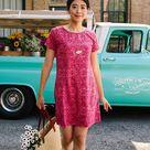 Women's Cotton T-Shirt Dress - Red / L
