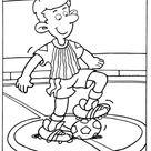 Kids-n-Fun   Kleurplaat Voetbal Aftrap