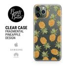Pineapple Ananas Case Pattern Gift for her Transparent Clear Ruber with hragmental design print for iPhone SAMSUNG & HUAWEI phone cover