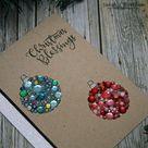 Sequin Ornaments DIY Christmas Card
