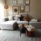 Inspiratie en ideeën voor een grijze bank in de woonkamer   InteriorTwin